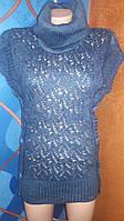 Туника женская акриловая с гетрами и миттенками, Турция, размер универсальный 44-48, цвета