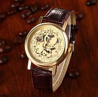 Часы с открытым механизмом Скелетон