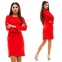 Женское стильное платье MINI 130 / красное