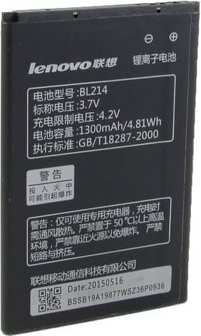 Аккумулятор для Lenovo A300T, A208T, A218T, A269, A305E, a316i оригинальный, батарея BL214, фото 2