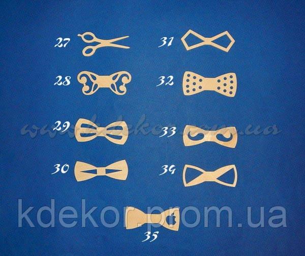 Бабочка-галстук (кроватка-метелик) №30 заготовка