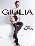 Женские колготки с имитацией чулка с тату Pari Tatoo (модель 1)