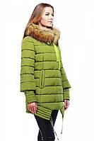 Стильная женская куртка с мехом енота
