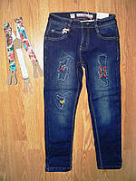 Джинсовые брюки для девочек на флисе, Seagull 116-146 рр, фото 1