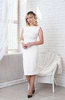 Классическое платье футляр Линда ниже колен из трикотажа Lacosta 44-56 размеры