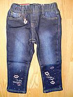 Джинсовые брюки для девочек на флисе, Seagull 6-36 рр, фото 1