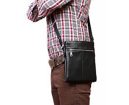 Мужская кожанная сумка Alvi AV-104black, фото 3