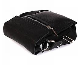 Мужская кожаная сумка Alvi AV-95black, фото 3