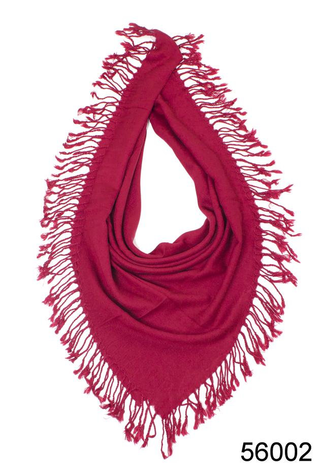 Однотонный бордовый шерстяной платок 2
