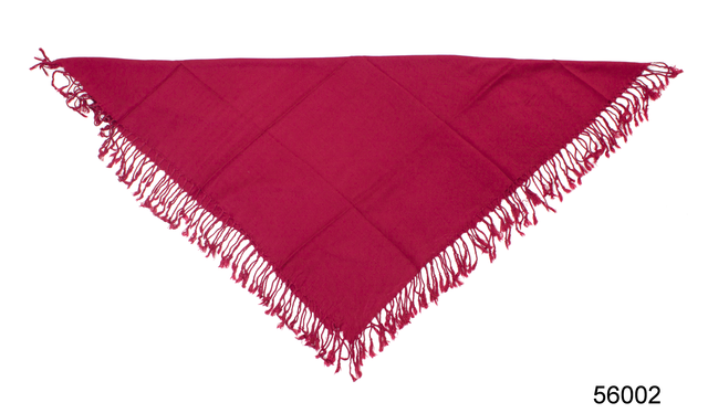 Однотонный бордовый шерстяной платок 3