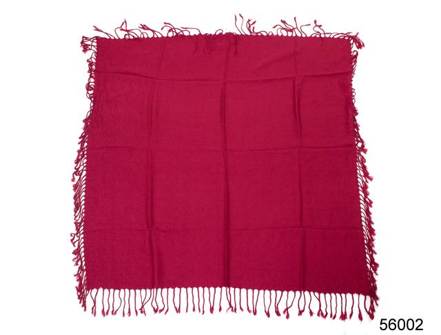 Однотонный бордовый шерстяной платок 4