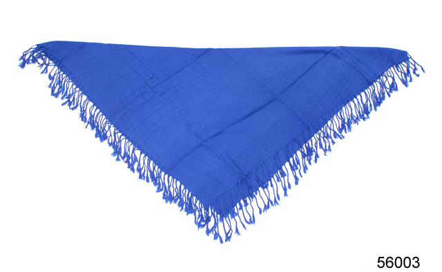 Однотонный синий шерстяной платок 3