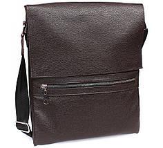 Мужская наплечная сумка формата A4 кожаная Alvi AV-93brown, фото 3