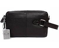 Мужская кожанная сумка-борсетка с плечевым ремнем Alvi AV-4-641A