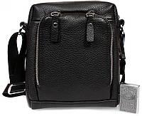Мужская кожанная сумка с накладным карманом Alvi AV-5-6006