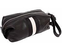 Мужская кожанная сумка борсетка с ремешком Alvi AV-3-921A