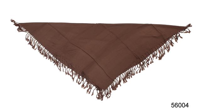 Однотонный коричневый шерстяной платок 3