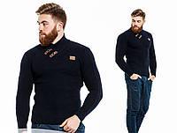 Мужской стильный свитер 426\ темно-синий