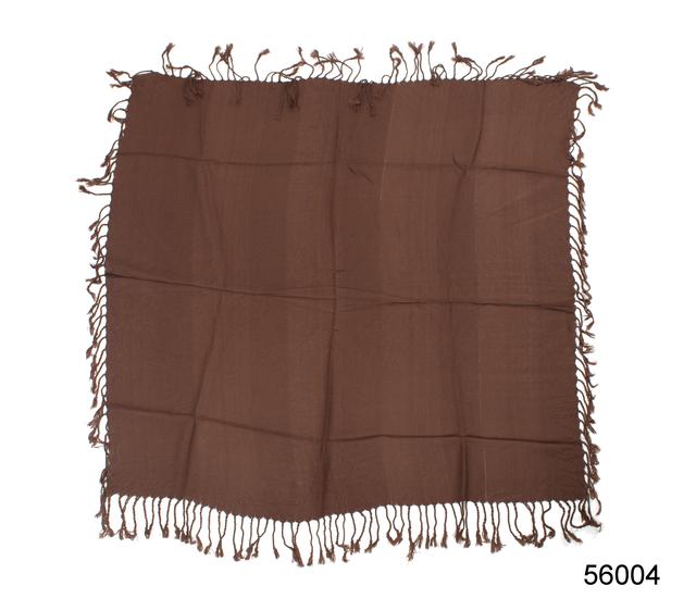 Однотонный коричневый шерстяной платок