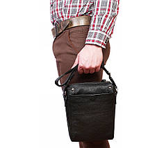 Мужская кожанная сумка Alvi AV-879, фото 3