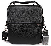 Мужская кожанная сумка мессенджер с ручкой и плечевым ремнем Alvi AV-6-0105