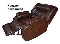 """Кресло-качалка """"Лотто, механизм реклайнер (кожа+кожзам)"""", фото 1"""