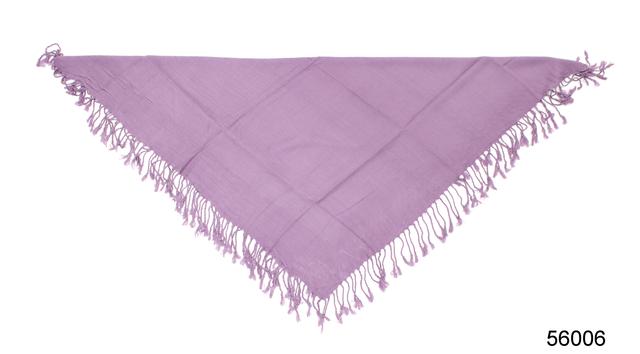 Однотонный сиреневый шерстяной платок 3