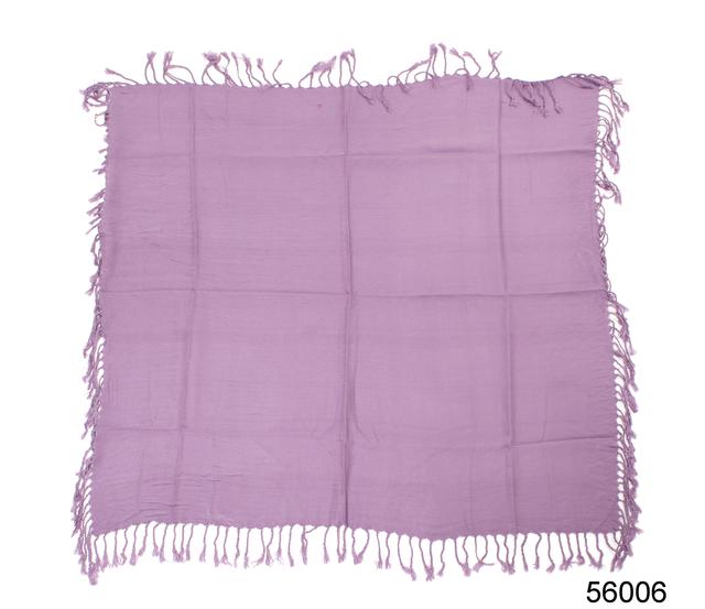 Однотонный сиреневый шерстяной платок 4