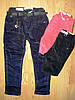 Вельветовые брюки для девочек на флисе, Seagull ,в остатке  98, 110, 128 рр