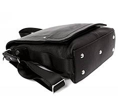Мужская кожаная сумка через плечо с клапаном Alvi AV-5555, фото 3