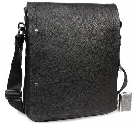Мужская кожаная сумка через плечо с клапаном Alvi AV-5555, фото 2