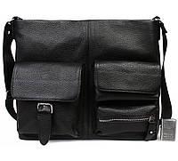 Мужская кожанная сумка для документов А4 и ноутбука Alvi AV-298