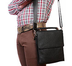 baa88bdd99bb Мужская кожанная сумка для документов и личных вещей Alvi AV-41-8721, фото
