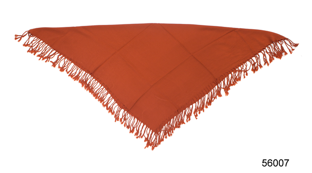Однотонный терракотовый шерстяной платок 3