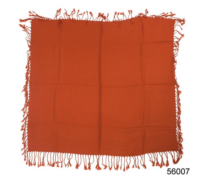 Однотонный терракотовый шерстяной платок 4