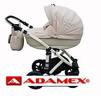 Коляска Adamex Galactic бежевая кожа 16 S