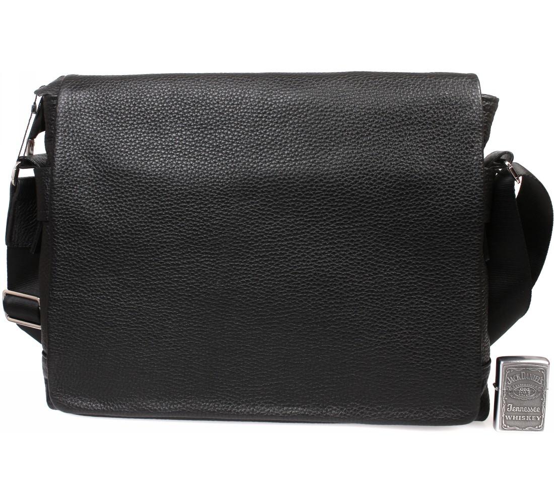 Мужская кожаная сумка под документы А4 и ноутбук Alvi AV-30-18187