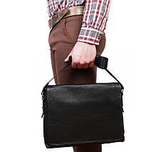 Мужская кожаная сумка под документы А4 и ноутбук Alvi AV-30-18187, фото 2