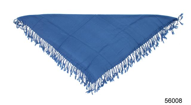 Однотонный темно-синий шерстяной платок 3