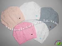 """Детская демисезонная шапка для девочки """"Колосок"""",  р.50-52 см. (5 шт в упаковке)"""