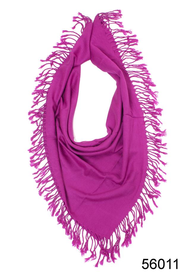 Однотонный фиолетовый шерстяной платок 2