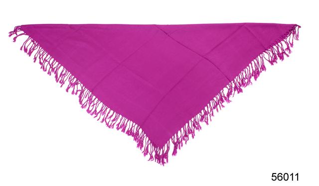 Однотонный фиолетовый шерстяной платок 3