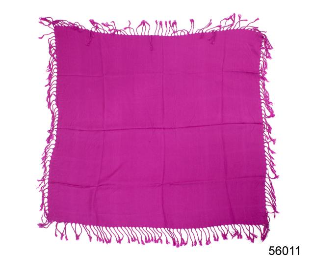 Однотонный фиолетовый шерстяной платок 4