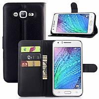 Кожаный чехол книжка для Samsung Galaxy  J3/ J300