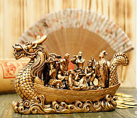 Лодка-Дракон и восемь бессмертных (под бронзу)
