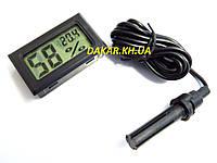 Цифровой врезной термометр гигрометр WSD 12, фото 1