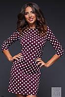 Женское платье в горошек 1263 ас