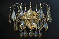 Хрустальное Бра SVLIGHT одноламповое B51003/1 золото+янтарь