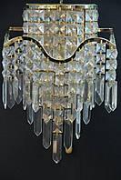 Хрустальное Бра SVLIGHT трехламповое 18012/3 золото