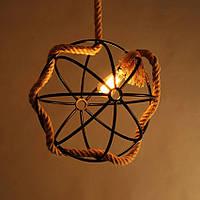 Светильник потолочный подвесной [ Rope ball ] (верёвки)